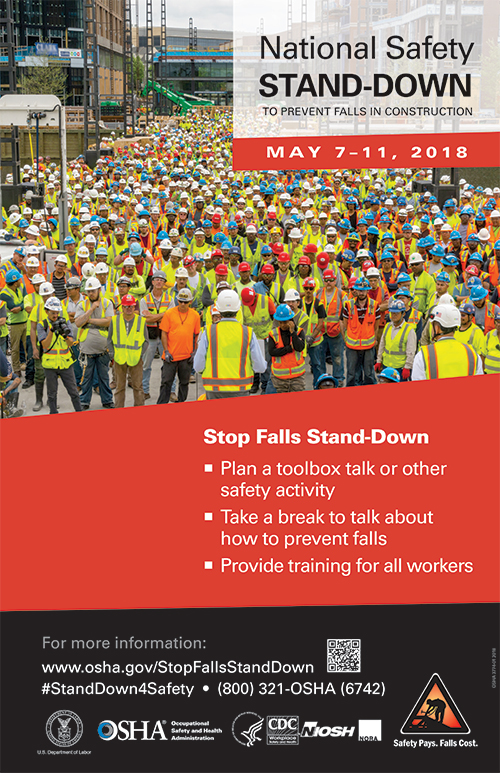 Join the National Safety Stand-Down to Prevent Falls in Construction