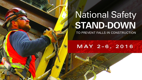 OSHA's 3rd Annual Safety Stand-Down - May 2-6, 2016